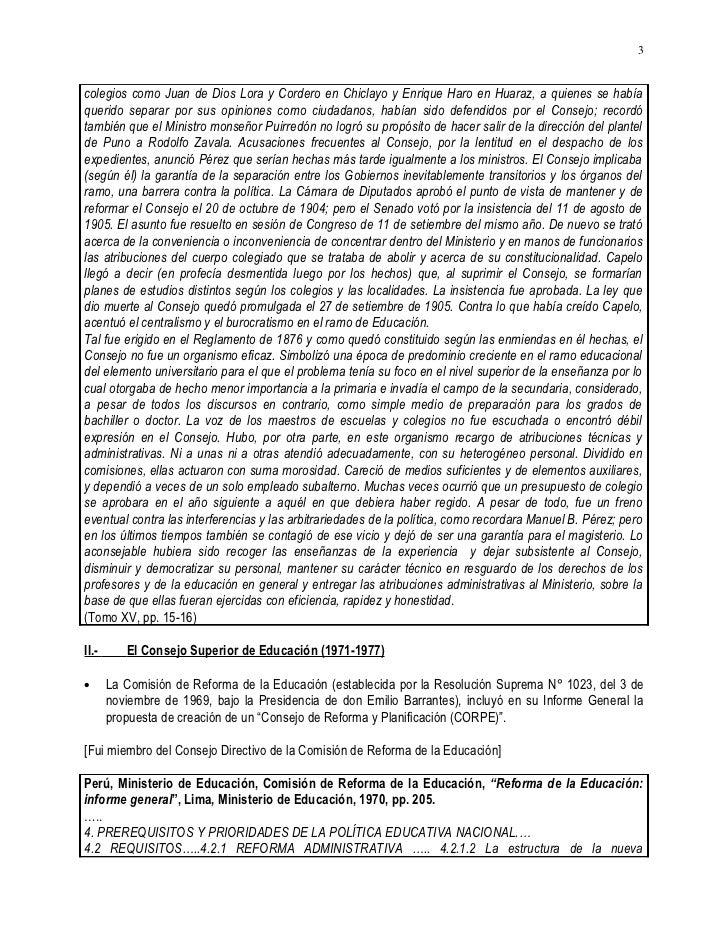 20020330&20050528.CARLOS MALPICA FAUSTOR HISTORIA 1869 A 2002 DE CONSEJOS SUPERIORES Y NACIONALES DE EDUCACION EN EL PERU Slide 3
