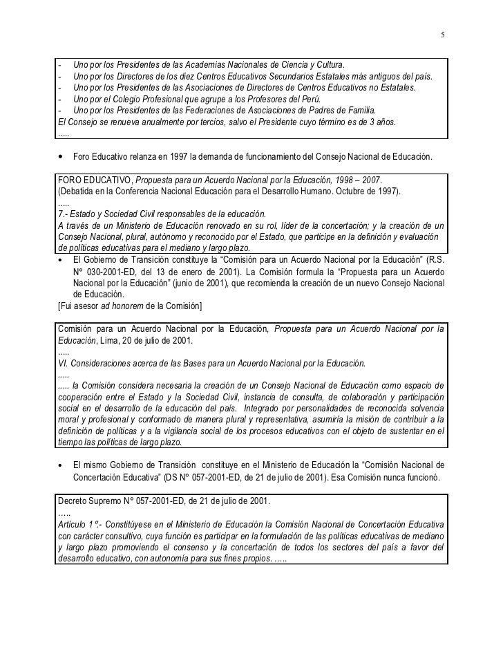20020330&20050528.CARLOS MALPICA FAUSTOR HISTORIA 1869 A 2002 DE CONSEJOS SUPERIORES Y NACIONALES DE EDUCACION EN EL PERU