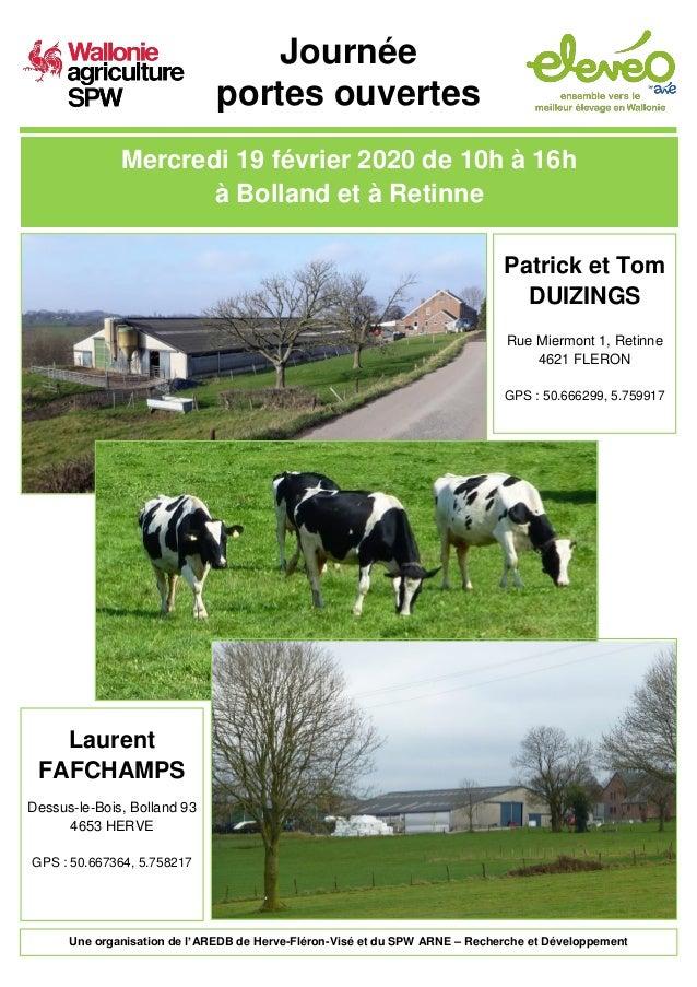 Journée portes ouvertes Mercredi 19 février 2020 de 10h à 16h à Bolland et à Retinne Laurent FAFCHAMPS Dessus-le-Bois, Bol...