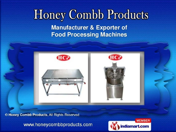 Manufacturer & Exporter ofFood Processing Machines