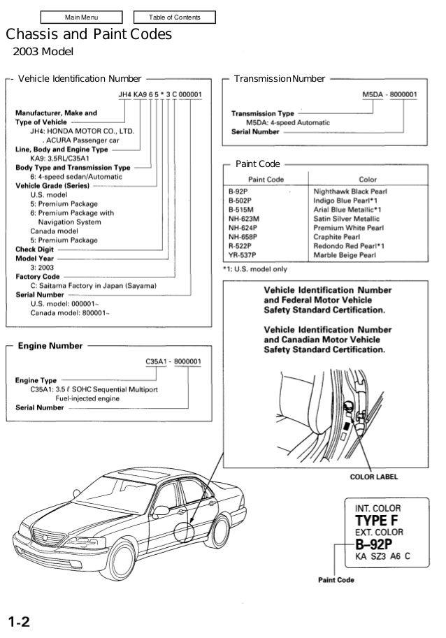2003 acura rl exhaust seal ring manual