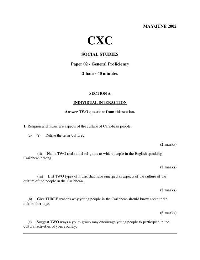 cxc social studies essay questions Social studies past papers information technology past papers cxc registration forms schedule  (past papers) essay topics updates.