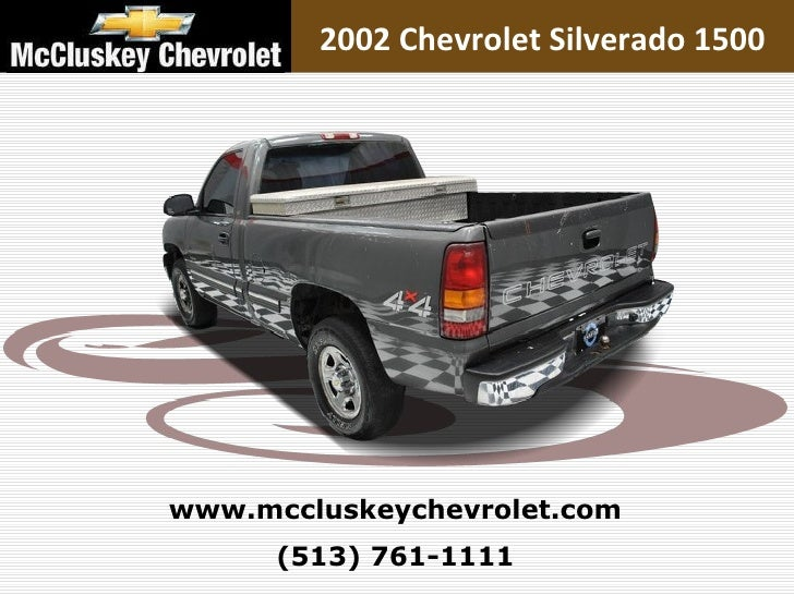 Used 2002 Chevrolet Silverado 1500 Pickup Truck At Your