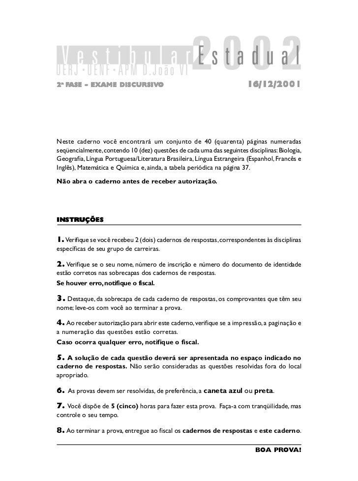 2a FASE - EXAME DISCURSIVO                DISCURSIV                 ISCURSIVO                                             ...