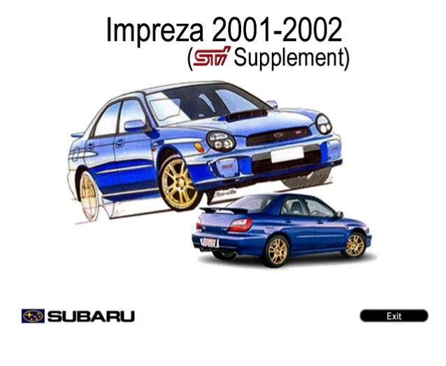 subaru impreza sti 2002 service manual rh slideshare net 2003 subaru wrx service manual 2003 subaru wrx owners manual pdf