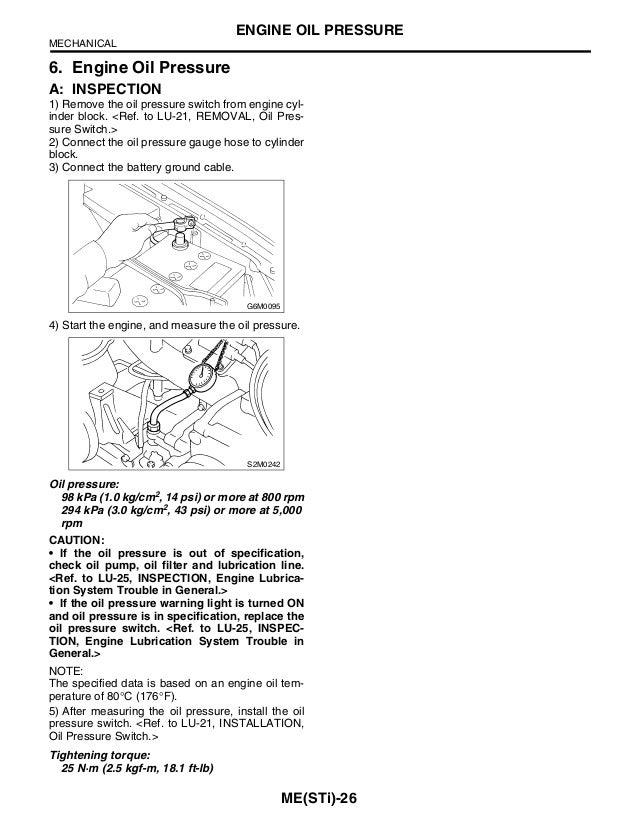 subaru impreza sti engine service manual