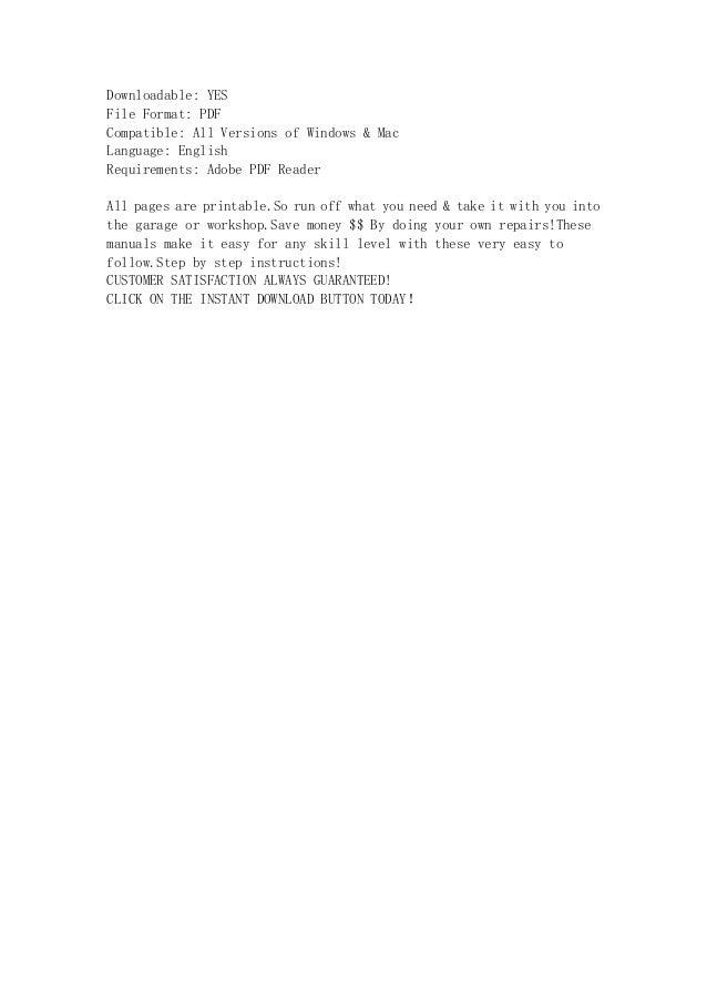 Isuzu axiom service manual array 2002 isuzu axiom service repair workshop manual instant download rh slideshare fandeluxe Image collections