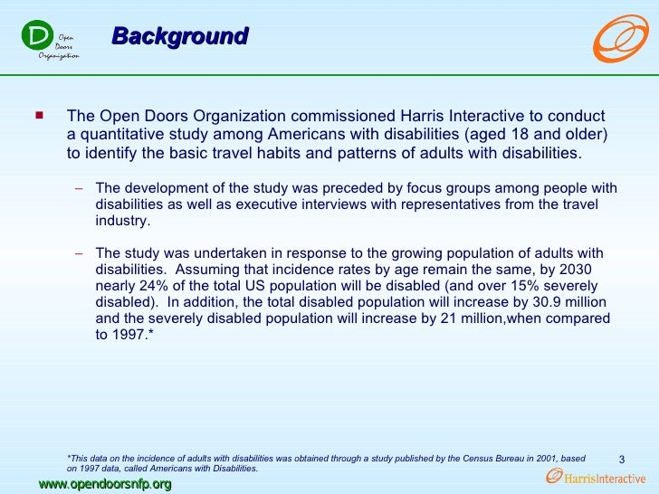 ... 3. u003culu003eu003cliu003eThe Open Doors Organization ...  sc 1 st  SlideShare & 2002 Open Doors Organization Disability Study