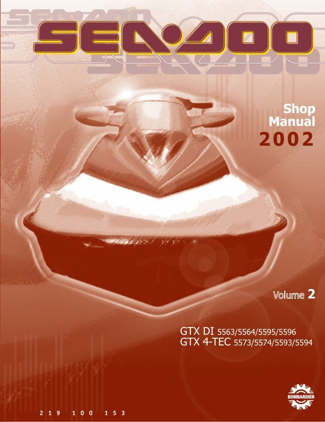 2002 Sea Doo Gtx 4 Tec Service Repair Manual