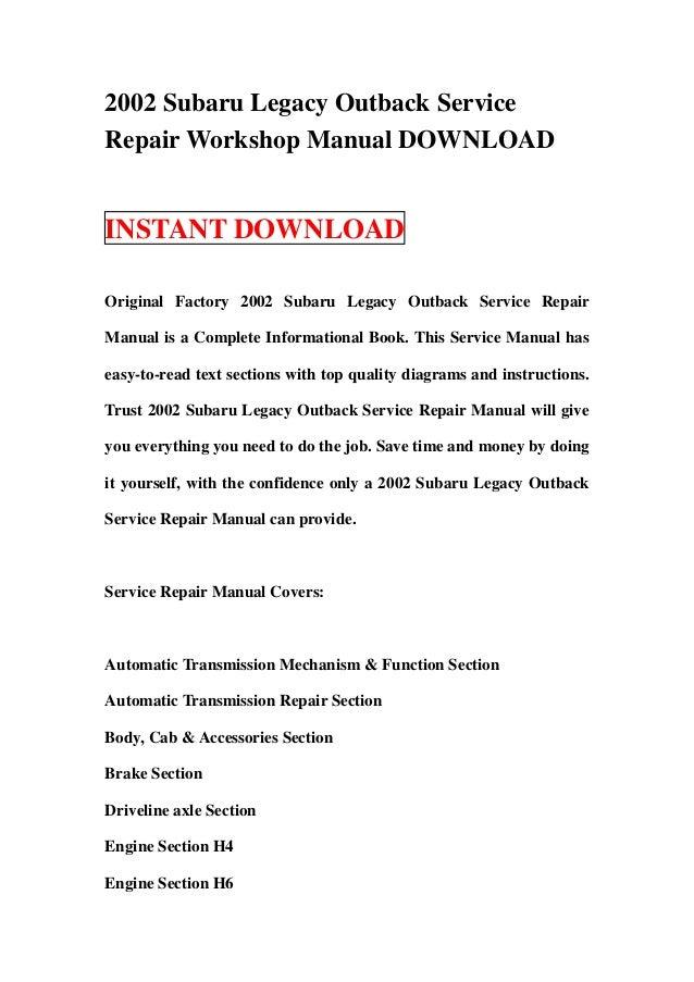 2002 subaru legacy service manual enthusiast wiring diagrams