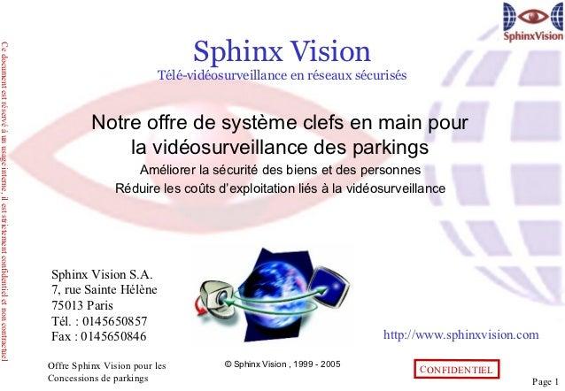 Sphinx VisionCe document est réservé à un usage interne, il est strictement confidentiel et non contractuel               ...