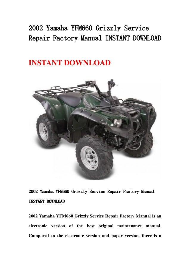 yfm 660 grizzly service manual daily instruction manual guides u2022 rh testingwordpress co yamaha grizzly 350 4x4 service manual yamaha grizzly 350 repair manual