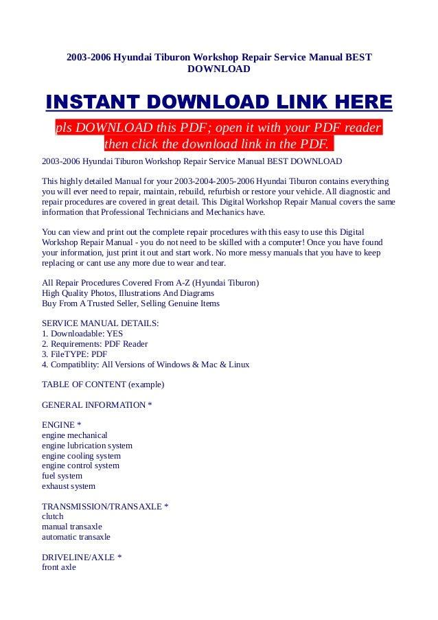 2003 2006 hyundai tiburon workshop repair service manual best download 85 Saab 900 Turbo Alarm Diagram