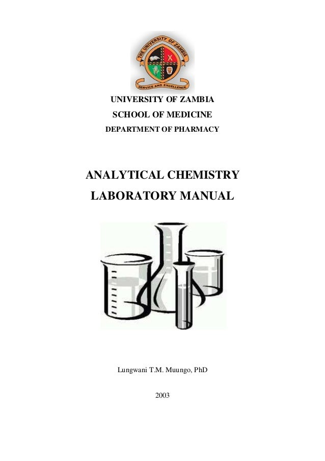 2003 analytical chemistry laboratory manual 1