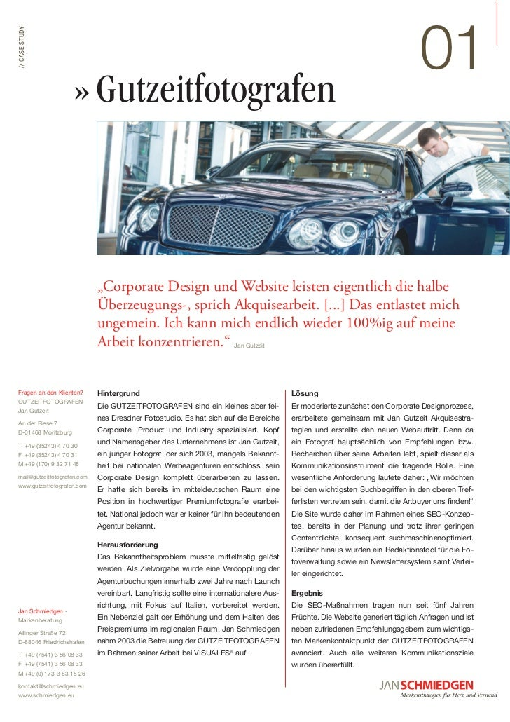"!""// CASE STUDY                         » Gutzeitfotografen                                         ""Corporate Design und ..."
