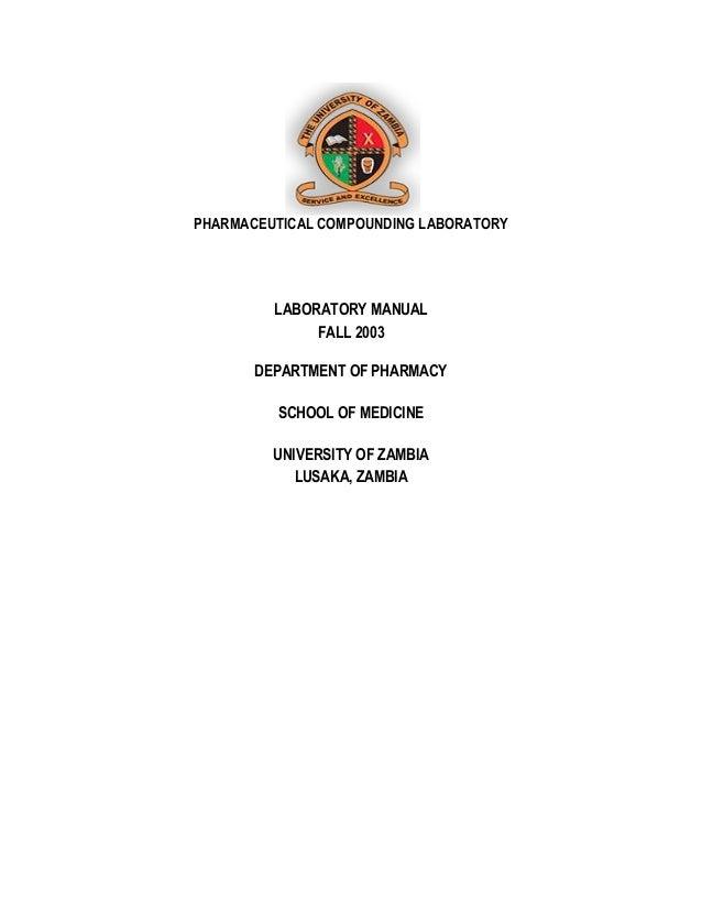 2003 pharmaceutical comounding laboratory 1 rh slideshare net Pharmacy Technician Education Pharmacy Staffing