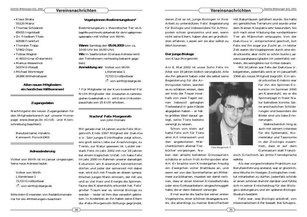 DeArGe Mitteilungen 2/2003
