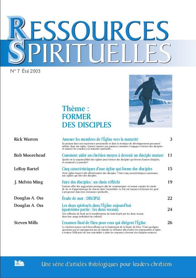 1Une série d'articles théologiques pour leaders chrétiensUne série d'articles théologiques pour leaders chrétiens N° 7 200...