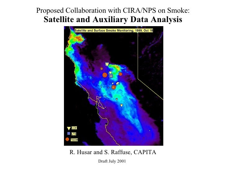 Proposed Collaboration with CIRA/NPS on Smoke: Satellite and Auxiliary Data Analysis R. Husar and S. Raffuse, CAPITA Draft...