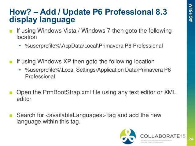 Customized Language Support for Primavera EPPM