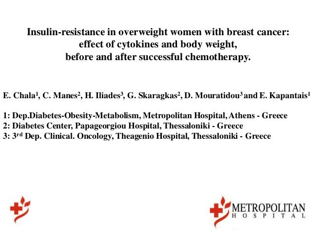 Insulin-resistance in overweight women with breast cancer:                  effect of cytokines and body weight,          ...