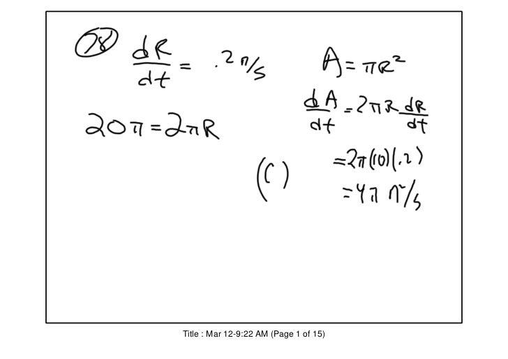 AP Calculus BC: MCQ 2003 BC IB