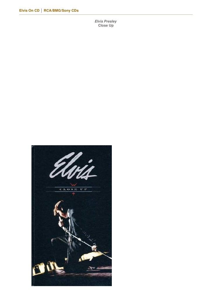 Elvis On CD │ RCA/BMG/Sony CDs                                    Elvis Presley                                    Close Up