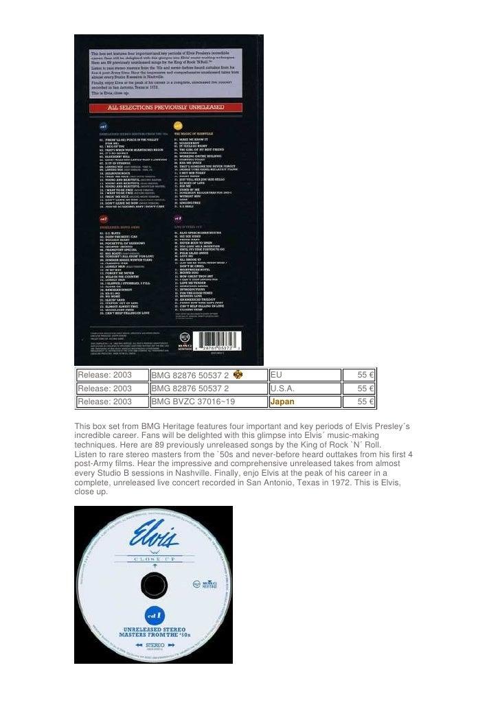 Release: 2003       BMG 82876 50537 2                EU                     55 € Release: 2003       BMG 82876 50537 2    ...