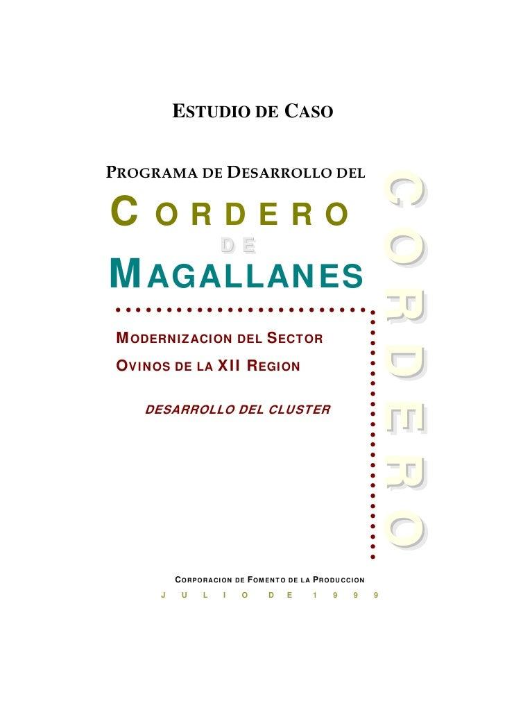 ESTUDIO DE CASO  PROGRAMA DE DESARROLLO DEL                                                       CORDERO                 ...