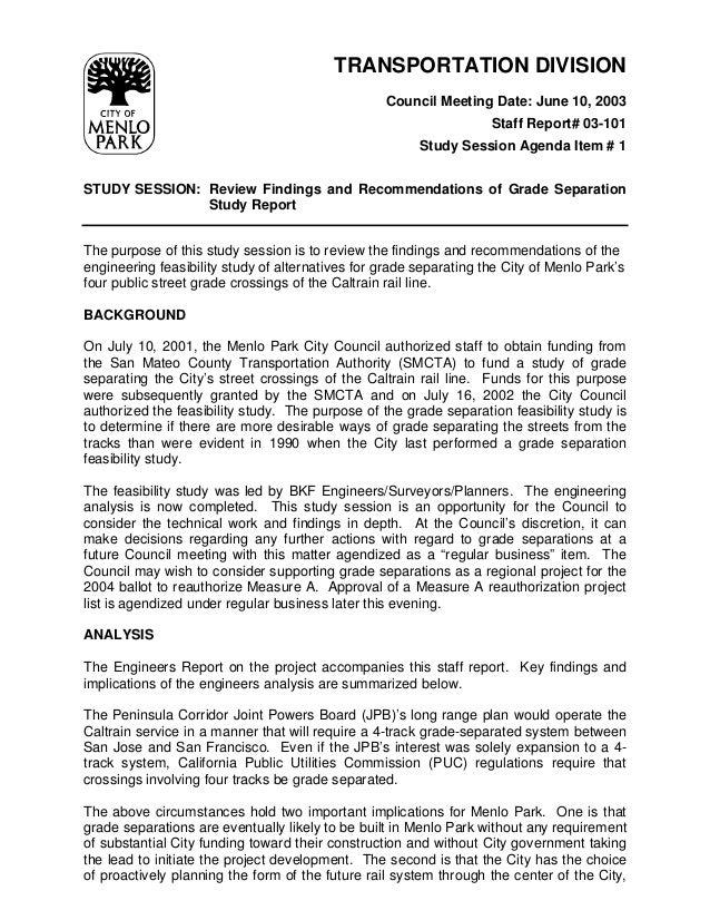 TRANSPORTATION DIVISION                                                  Council Meeting Date: June 10, 2003              ...