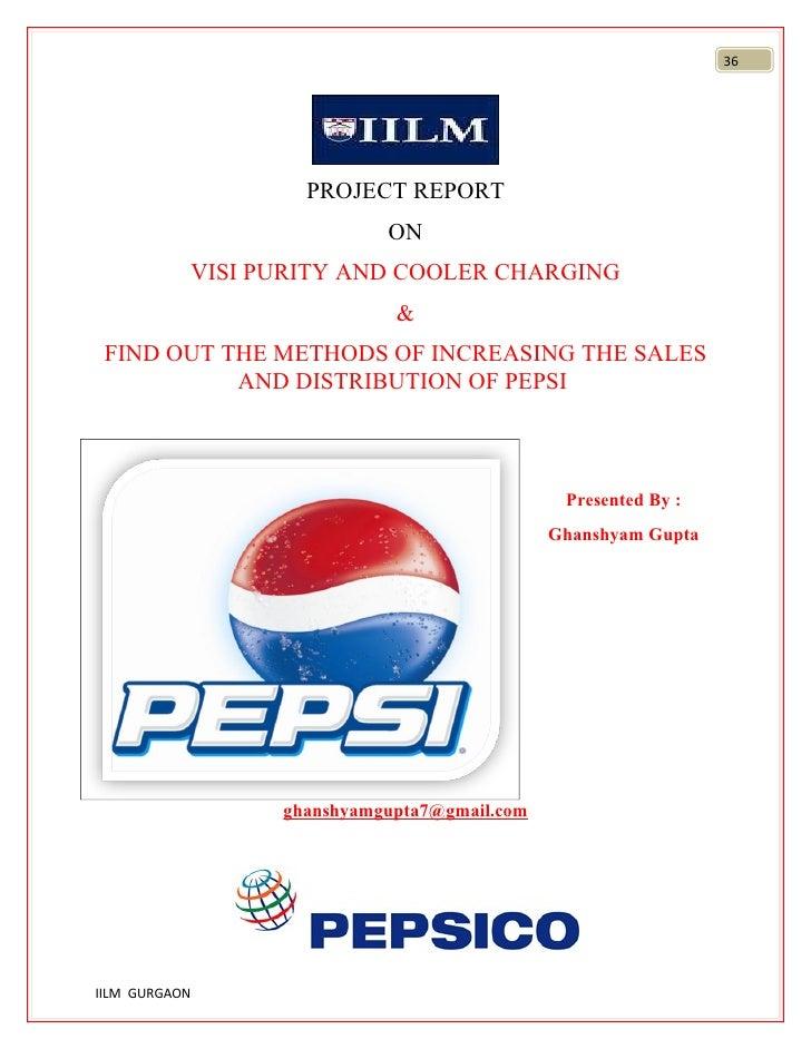 2003 pepsi project report