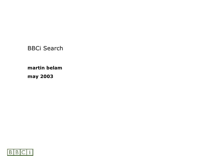 BBCi Search martin belam may 2003