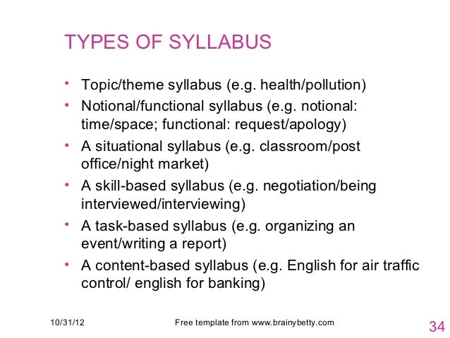 esp syllabus design How is english for specific purposes (esp) different  your knowledge of students' potential is central in designing a syllabus with realistic goals that takes.