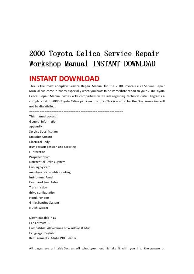 2004 2006 toyota tundra service repair workshop manual instant downlo rh slideshare net 2004 tundra service manual 2004 toyota tundra factory service manual