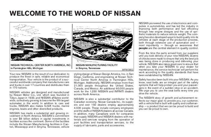 2004 altima owner s manual rh slideshare net nissan altima 2014 owners manual 1994 Nissan Altima