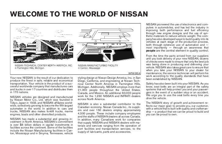 2004 armada owner s manual rh slideshare net 2004 nissan titan owner's manual pdf 2014 nissan armada owners manual