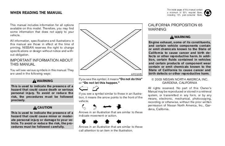 2004 xterra owner s manual rh slideshare net nissan xterra owner's manual nissan xterra owners manual 2012