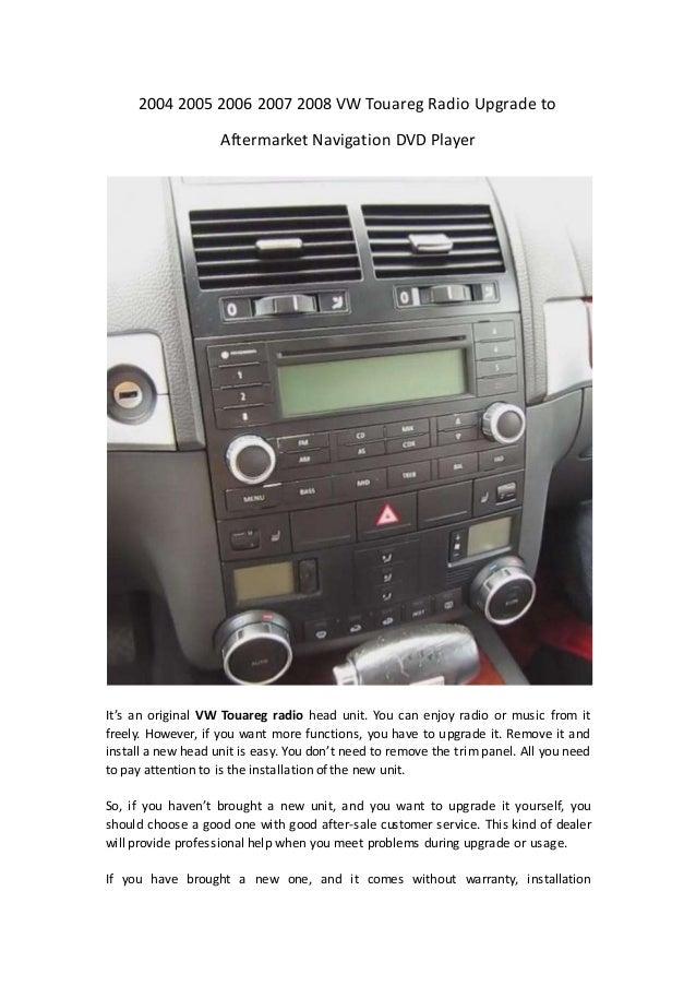 2004 2005 2006 2007 2008 vw touareg radio upgrade to aftermarket navigation dvd player 1 638 2006 volkswagen touareg wiring diagram vehicle wiring diagrams