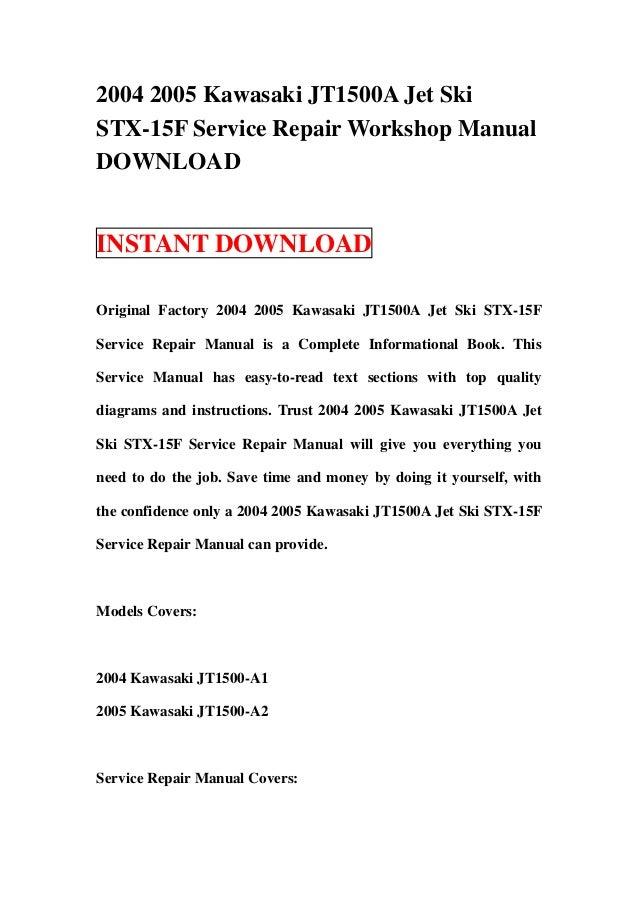 download jetski jet ski stx 1500 jt1500d 2009 2010 service repair workshop manual