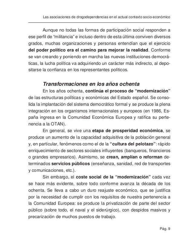 Pág. 11 Las asociaciones de drogodependencias en el actual contexto socio-económico La delegación en las instituciones ofic...