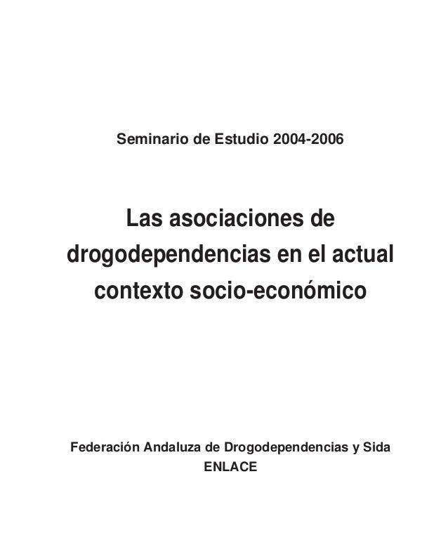 Conclusiones del Seminario de Estudio 2004-2006 de la Federación An- daluza de Drogodependencias y Sida ENLACE. Texto defin...