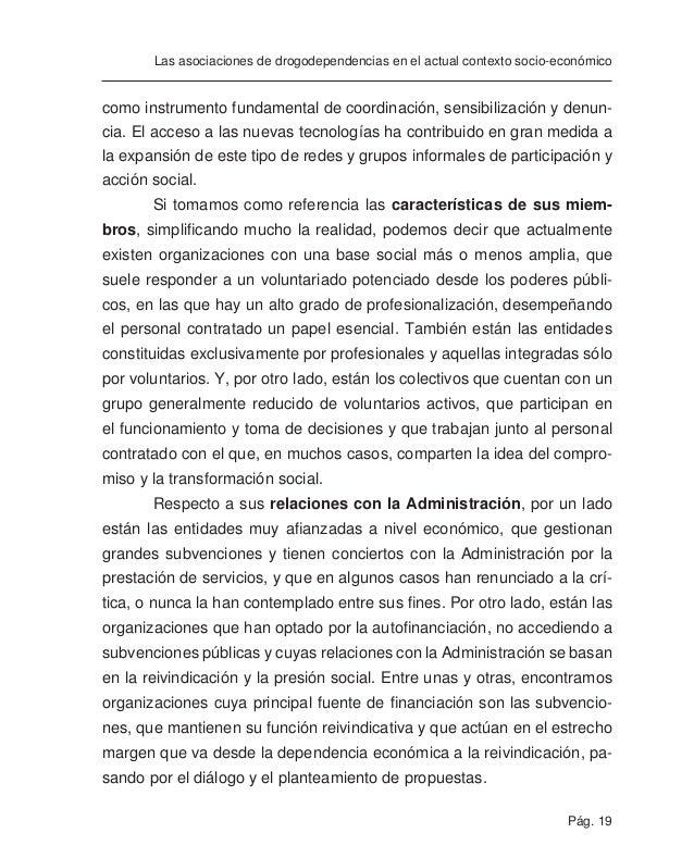 Pág. 21 Las asociaciones de drogodependencias en el actual contexto socio-económico La década de los ochenta está marcada ...