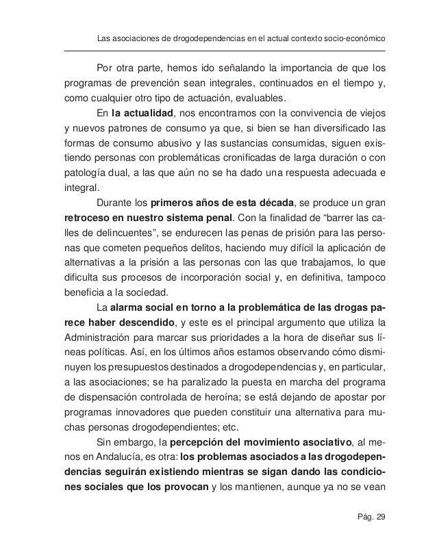 Pág. 31 Las asociaciones de drogodependencias en el actual contexto socio-económico ANÁLISIS DE NUESTRAS ASOCIACIONES EN E...