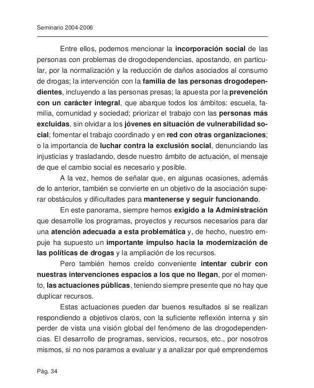 """Pág. 36 Seminario 2004-2006 Funcionamiento interno Ya en el documento de nuestro Primer Seminario de Estudio, """"Rela- cione..."""