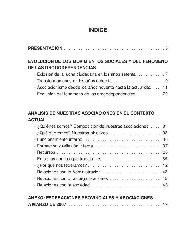 Pág. 5 Las asociaciones de drogodependencias en el actual contexto socio-económico PRESENTACIÓN El Seminario de Estudio 20...