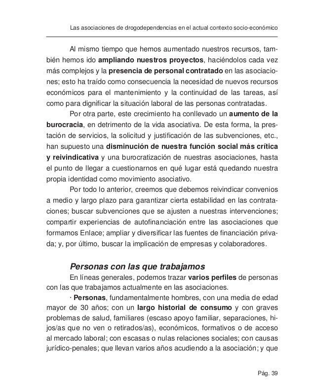 Pág. 41 Las asociaciones de drogodependencias en el actual contexto socio-económico · Otros colectivos con los que trabaja...