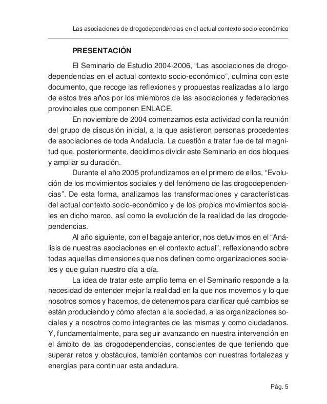 Pág. 7 Las asociaciones de drogodependencias en el actual contexto socio-económico EVOLUCIÓN DE LOS MOVIMIENTOS SOCIALES E...