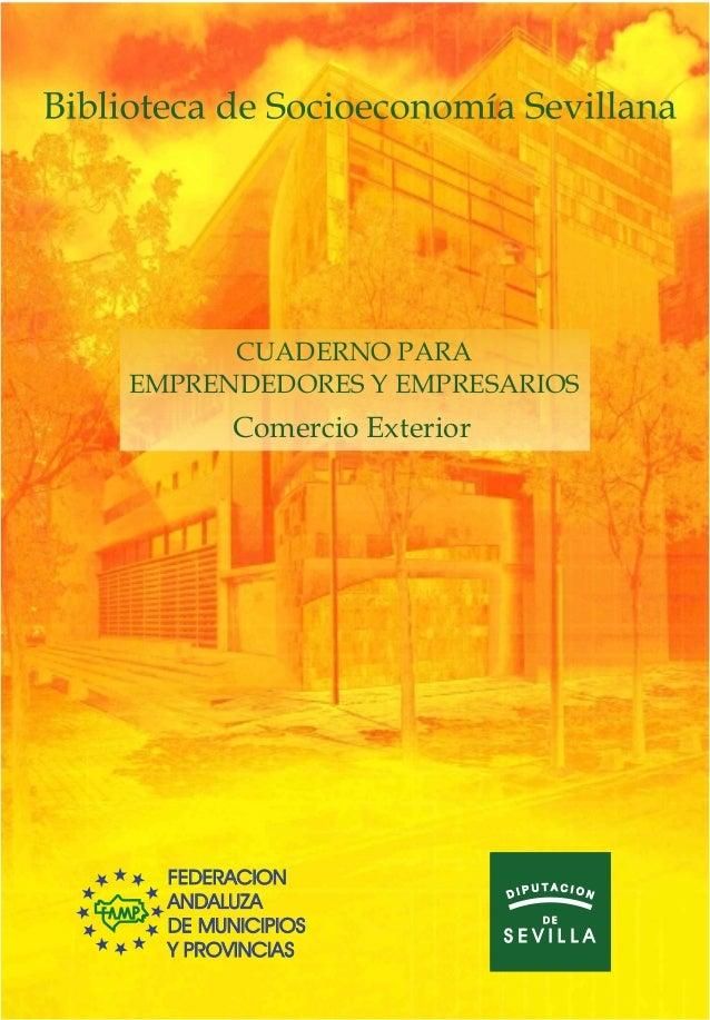 CUADERNO PARAEMPRENDEDORES Y EMPRESARIOS        Comercio Exterior  FEDERACION                      UTACION                ...
