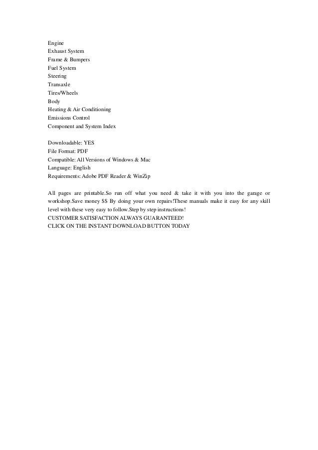 Dodge neon repair user manuals user manuals pdf array 2004 dodge neon and srt 4 service repair manual instant download rh slideshare fandeluxe Gallery