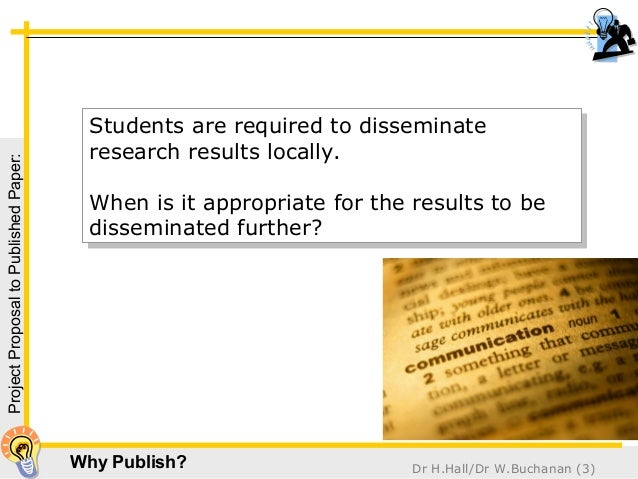 dissemination paper research